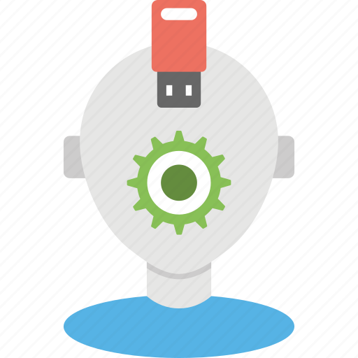 backup service robot, data recovery concept, data recovery service, robot data recovery, system administration icon