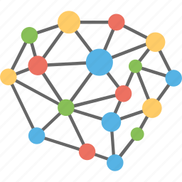 connection structure, molecular structure, molecule particle network, network, network grid icon