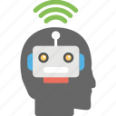 artificial intelligence, machine learning, wifi intelligence, wifi technology, wireless technology icon