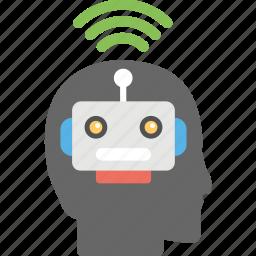 artificial intelligence, machine learning, wifi intelligence, wifi technology, wireless technology icon