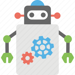 artificial intelligence, automation, robot settings, robotic assistance, robotic technology icon
