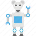 cartoon robot, funny robot, robot, robot character, robot rat icon