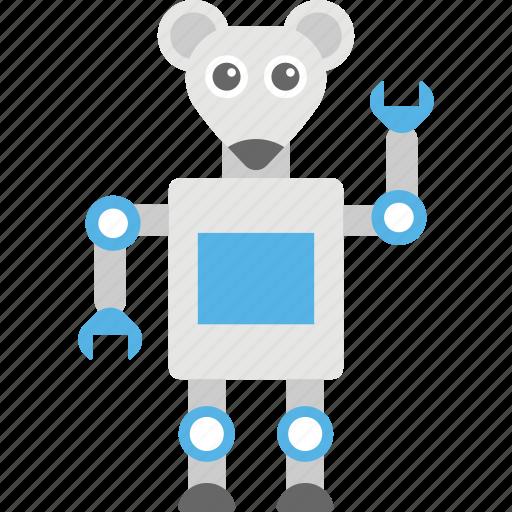 cartoon robot, funny robot, robot, robot character, robot rat icon