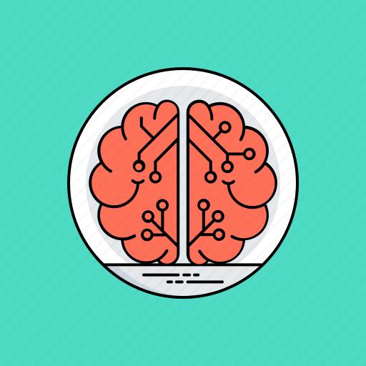 artificial intelligence, human brain, intelligence management, machine intelligence, mind mapping icon