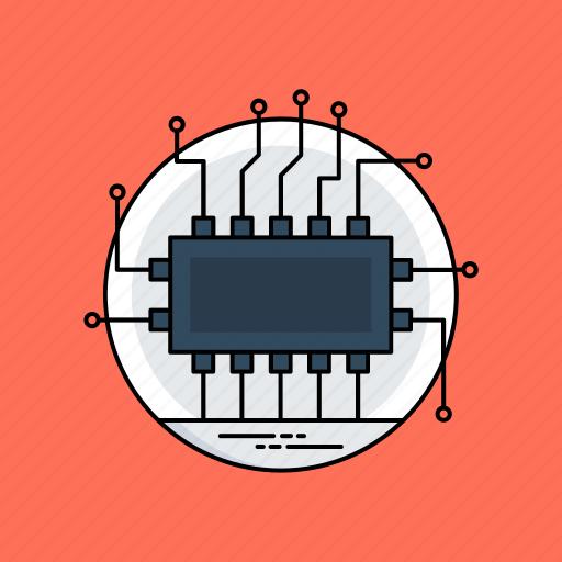 circuit board, computer processor, electronic device, microchip, microprocessor icon