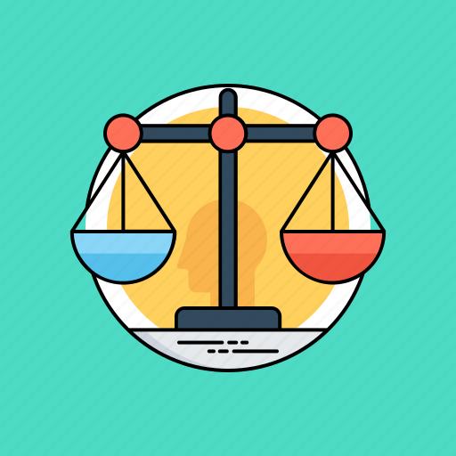 artificial intelligence ethics, law scale, machine ethics, roboethics, technology ethics icon