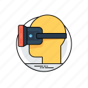 head mounted display, head-mounted device, virtual reality, virtual reality headset, vr headset icon