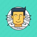 conscious experience, emotions, feelings, human avatar, human mental activity icon