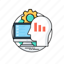 data insight, data science technology, database architecture, database management, predictive analytics icon
