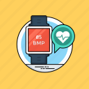 activity tracker, fitness tracker, heart rate tracker, smartwatch and health, wearable tracker icon