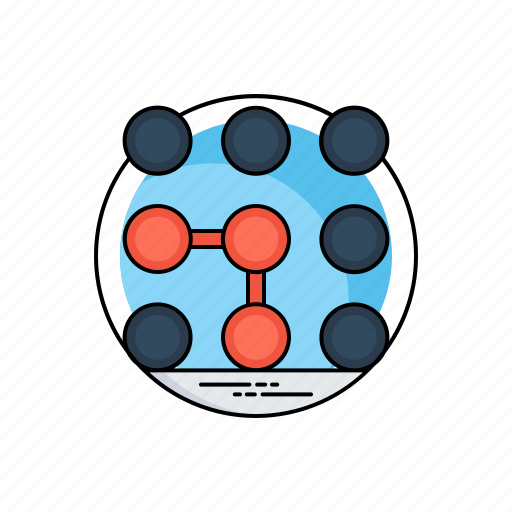 algorithm, data science technology, machine learning, pattern recognition, pattern system icon