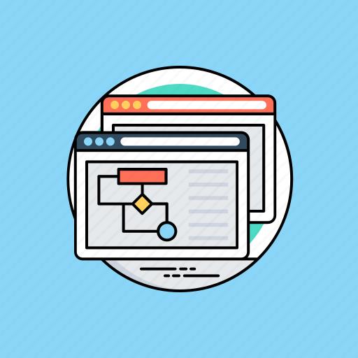 web page, website design, website mockup, website prototype, website wireframe icon