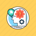 artificial intelligence, intelligence management, machine intelligence, machine learning, mind mapping icon