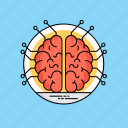 artificial intelligence, human brain, intelligence management, machine intelligence, mind mapping icon