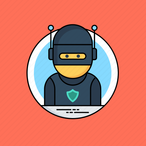 cybercriminal, hacker activity, hacktivist, phishing, ransomware icon