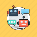 artificial conversational entity, chat bot, chatbot, dialog system, talkboat icon