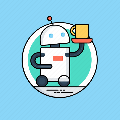artificial intelligence, bionic man, humanoid, personal robot, robot icon