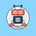 artificial intelligence, bionic man, humanoid, robot, robotic technology icon