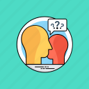 communication, conflict, conversation, discussion, questionnaire icon