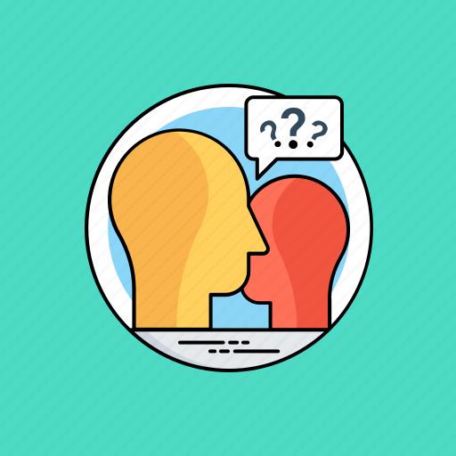 communication, conflict, conversation, discussion, questionnaire icon