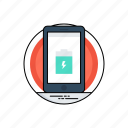 battery usage, inductive charging, mobile battery, recharge battery, wireless charging icon