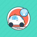 autonomous car, driverless car, future car, self-driving car, smart car icon