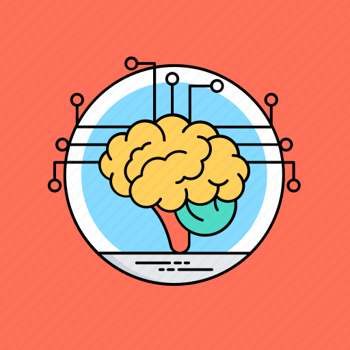 artificial brain, artificial intelligence, deep learning, intelligence management, neural network icon