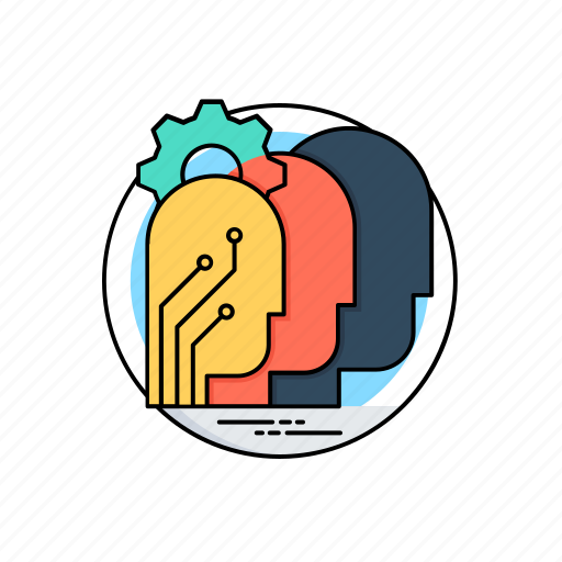 artificial intelligence, brainstorming, decision making, mind mapping, thinking process icon