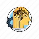 ai knowledge, artificial brain, artificial intelligence robot, digital brain, neural network icon