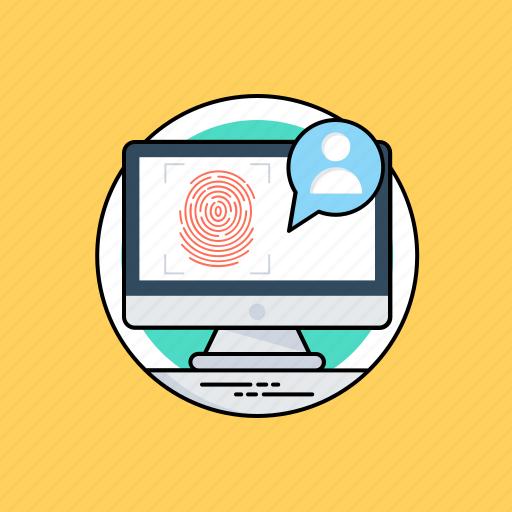 access control, biometric fingerprint, biometric identification, biometric technology, fingerprint scan icon