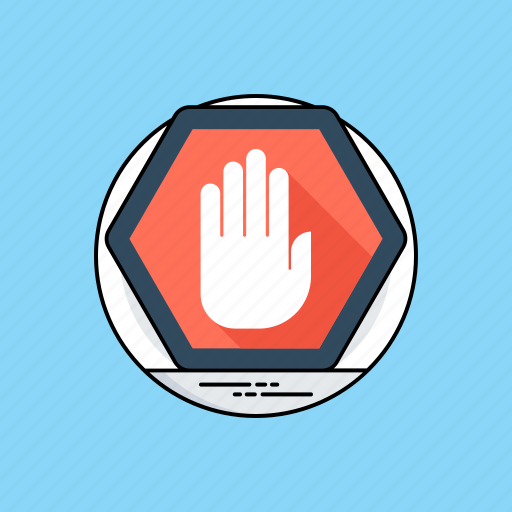 hand stop sign, no entry, not allowed zone, traffic sign, warning sign icon
