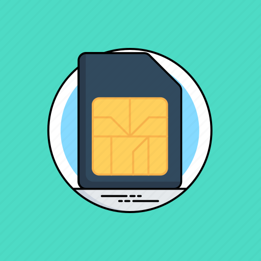 integrated circuit, mobile sim, mobile subscriber identity, sim card, subscriber identity module icon