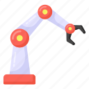 hydraulic arm, robot technology, industrial arm, production robot, robotic arm icon
