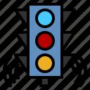 smart traffic light, traffic light, road, smart city, artificial intelligence