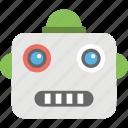 retro robot, robot face, robot face emoji, robot head, robotic emoji icon
