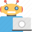 artificial intelligence, computer robot, computer science, machine intelligence, robot technology icon