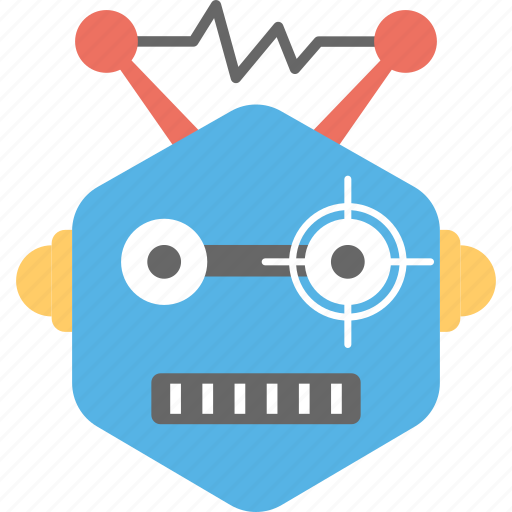 artificial intelligence, electric robot, funny robot, robot toy, short circuit icon