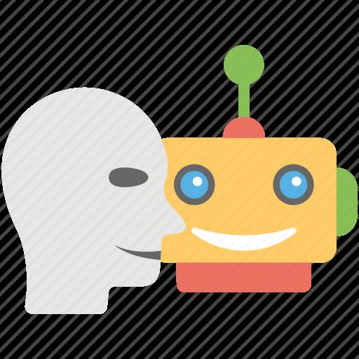 artificial intelligence, computer science, humanoid, retro robot, robotic man icon