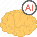 artificial brain, artificial intelligence, artificial technology, computer science, humanoid icon