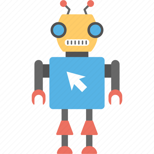 android, artificial intelligence, bionic man, robot, robot and cursor icon