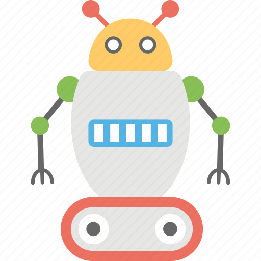 artificial intelligence, humanoid, robot charging, robot packaging, robotic production icon