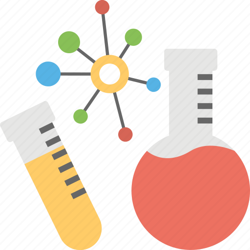 chemical bonding, lab experiment, learning science, research concept, science technology icon
