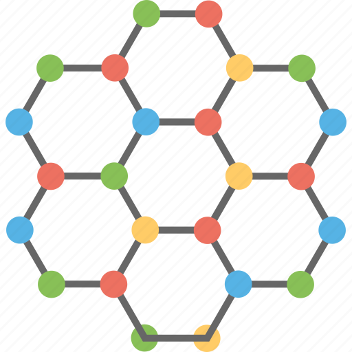 cell bonding, molecular network, molecular technology, scientific research icon