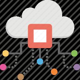 cloud technology, cyber storage, cyber system, digital data processing, internet cloud icon