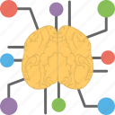 artificial brain, artificial intelligence, neural network, neuroscience, technology assistance icon