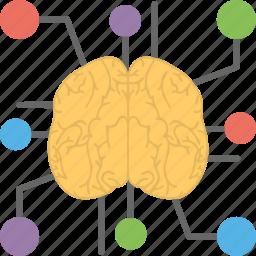 artificial brain, artificial intelligence, neural network, neuroscience, technology assistance icon