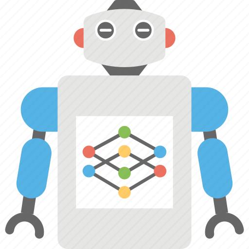 artificial intelligence, computerized robot, humanoid, robot network, robotic system icon