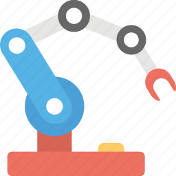 industrial arm, industrial robot, production robot, robot technology, robotic hydraulic arm icon