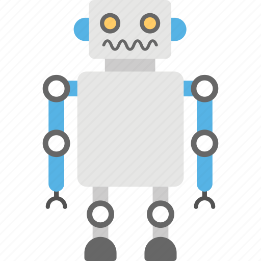 android, artificial intelligence, bionic man, humanoid, robotic man icon