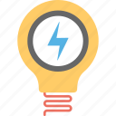 bright light, creativity, electric bulb, electricity light, innovation icon